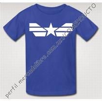Playera Para Niños Capitan America Winter Soldier Civil Ofhg