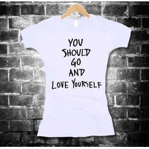 Justin Bieber Playeras You Should Go And Love Yourself Mujer