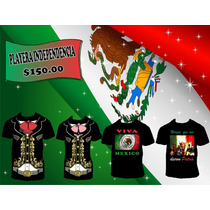 Playera Charro Independencia Patriota Septiembre Heroes Mex