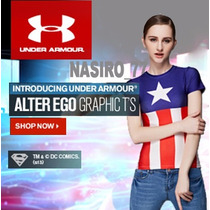 Under Armour Alter Ego Blusa Capitan America,deportes/casual
