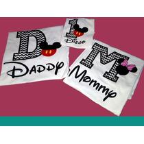 Playeras Y Pañaleros Personalizadas Mickey Mouse