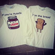 Camisas Nutella Mejores Amigos Y Parejas, El Regalo Ideal