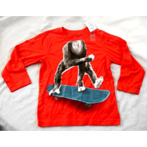 Playera Niño The Children´s Place Talla 4años Chango Me1