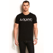 Playera Armani Exchange Muscle Fit Rice Paper Logo Talla M