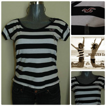 Blusas Hollister Co. Xs Striped Nueva Holgadita Faldas