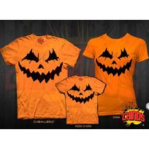 Playeras Para Halloween, Dia De Muertos, Papa, Mama, Hijo