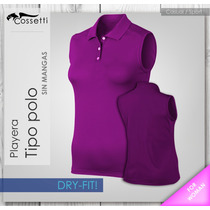 Playera Tipo Polo Original Dry-fit! Corte Dama Diseño Casual
