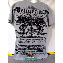 Playera Raw State Aterciopelado Affliction Talla L Original
