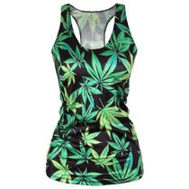Playera Tank Top Marihuana Moto Ganja