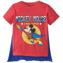 Disney Poco Boys ' Mickey Ratón Superhero Capa T-camisa