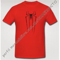 Playera Spiderman Hombre Araña Amazing Spiderman Roja Lsog