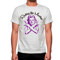 Playera Rocking Like Marilyn Monroe Mas Bandas Mayoreo Promo