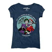 Playera Batman Harley And Joker Mujer De Mascara De Latex
