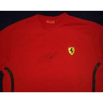 Playera Autografiada Michael Schumacher Ferrari Formula 1 F1