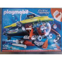 Playmobil 4909 City Action Submarino Con Motor Real