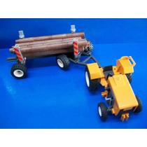 Tractor Con Remolque Y Troncos Playmobil