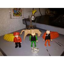 Playmobil Paquete 9 Figuras, 2 Caballos Y Accesorios Varios.