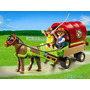Playmobil 5228 Pony Con Carreta Granja Bosque Retromex¡¡
