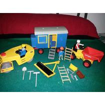 Playmobil Lote Vintage Construccion Envio Gratis No Medieval