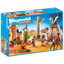 Playmobil 5247 Campamento Indio Con Totem Oeste Retromex¡
