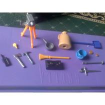 Playmobil Lote De Accesorios Incluso Una Camara Con Tripie
