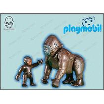 6201 Gorila Con Cria, Zoologico, Animales Playmobil Ugo