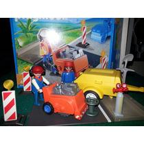 Playmobil 4044 Lote Construcción Generador Y Cortadora