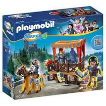 Playmobil 6695 Super 4 Tienda Del Caballero Justa Medieval