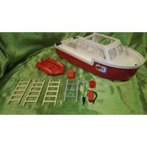 Playmobil Lancha De Bomberos Y Accesorios Vintage