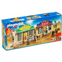 Playmobil 4398 Oeste (ciudad Del Oeste Maletin)!!! Gzt