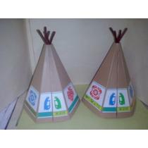 Playmobil Tepees Antiguos De Plastico Indios Apaches Js