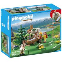 Playmobil 5424 Familia De Exploradores Con Bebedero.
