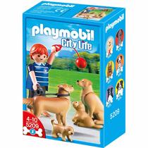 Playmobil 5209 Golden Retrievers Con Cachorros Retromex!!