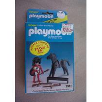 Playmobil 2951 Indio Y Caballo 1983 Nuevo