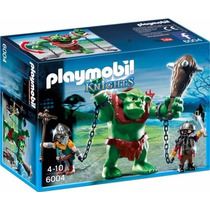Playmobil 6004 Ogro Con Guerreros Medieval Troll Retromex