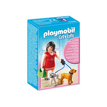 Playmobil 5490. Mujer Con Cachorros Centro Comercial. Pmt