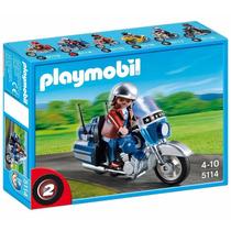 Playmobil 5114 Motocicleta Tourer Ciudad Retromex!!