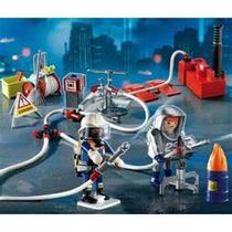Playmobil 4825 Bomberos Con Bomba De Agua Envio Gratis