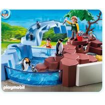 Playmobil 4013 Superset Piscina De Pingüinos Zoologico!!!