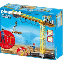 Playmobil 5466 Mega Grua De Construccion Control Remoto Gzt