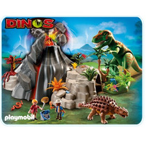 Playmobil 5230 T-rex Con Volcan Dinisaurios!!! Gzt