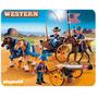 Playmobil 5249 Oeste Soldados Americanos Con Cañon !!!! Fdp