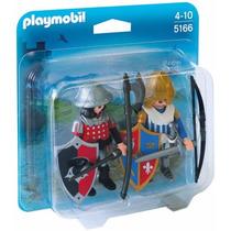 Playmobil 5166 Blister Caballeros Medieval Castillo Retromex