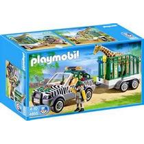 Playmobil 4855 Zoologico (vehiculo Con Remolque)!!! Bfn