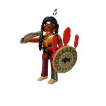 Playmobil 5598 Guerrero Apache #10 Serie 9 Oeste Retromex