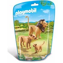 Playmobil 6642 Leones Con Cria Zoologico Animal Retromex