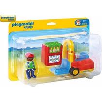 Playmobil 6959 Montacargas 1.2.3 Mercado Ciudad Retromex