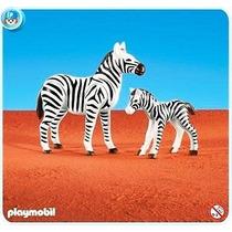 Playmobil 7898 Cebra Con Cría Add-on