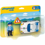 Playmobil 6797 Coche D Policia 1.2.3 Rescate Retromex
