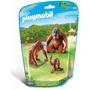 Playmobil 6648 Orangutanes Y Cria Zoologico Animal Retromex